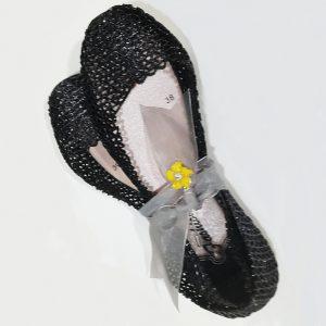 Bailarinas de rejilla negras