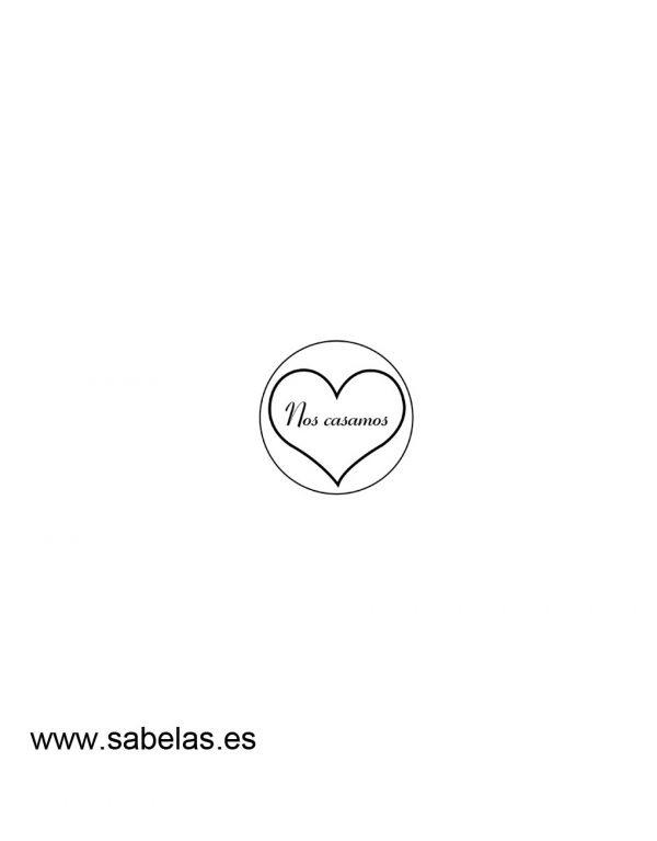Sello de caucho modelo Corazón