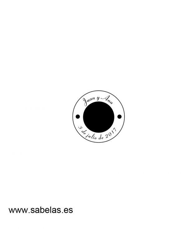 Sello de caucho modelo Circular