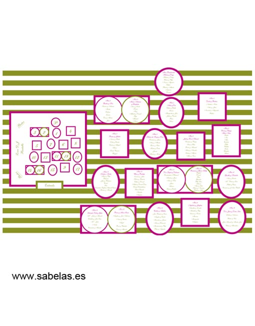 Protocolo de mesas modelo Stripes