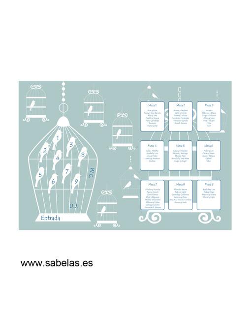 Protocolo de mesas modelo Jaulas