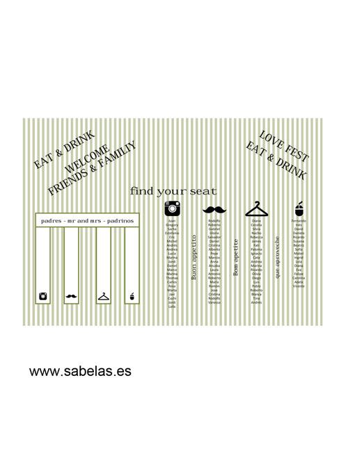 Protocolo de mesas modelo Vintage