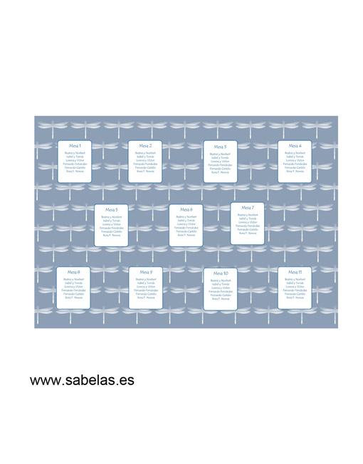 Protocolo de mesas modelo Libélulas