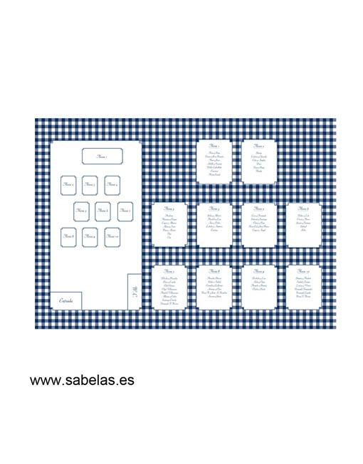 Protocolo de mesas modelo Vichy Marino