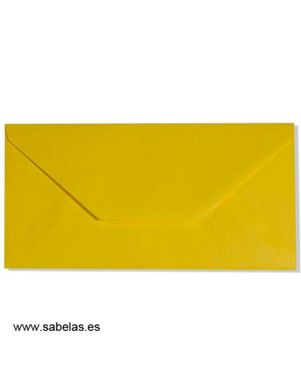Sobre americano amarillo limón