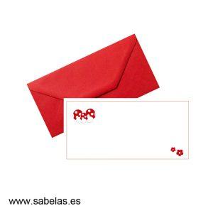 Set sobres & tarjetones modelo faralaes