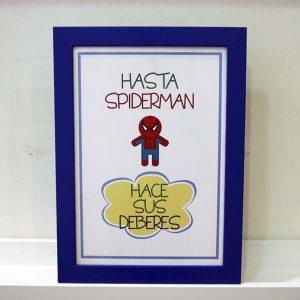 Lámina infantil supernormas Spiderman