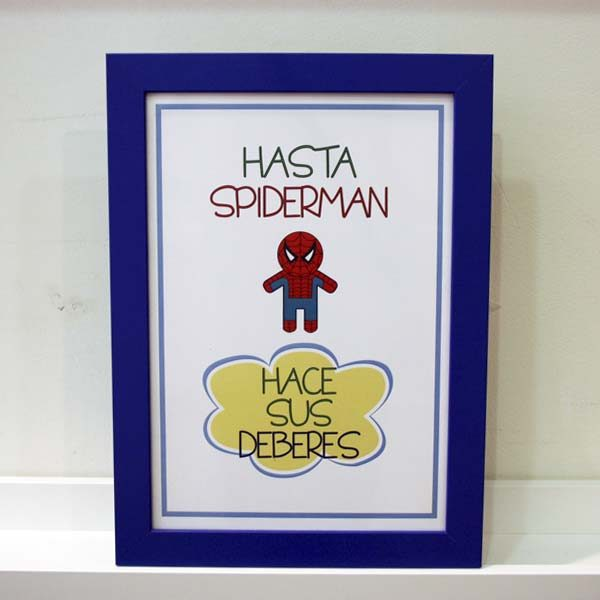 Lámina infantil supernormas Spiderman